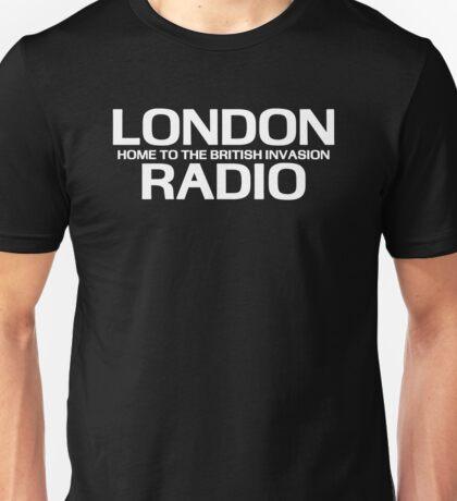 British Invasion - London Radio (White) Unisex T-Shirt