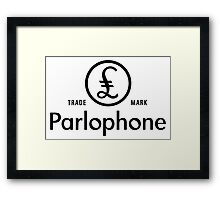British Invasion - Parlophone Records (Black) Framed Print