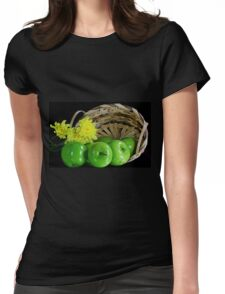 Green apples Womens Fitted T-Shirt