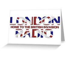 British Invasion - London Radio (Flag) Greeting Card