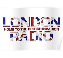 British Invasion - London Radio (Flag) Poster