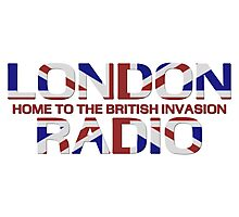 British Invasion - London Radio (Flag) Photographic Print