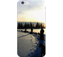 Sledding in Lapland iPhone Case/Skin