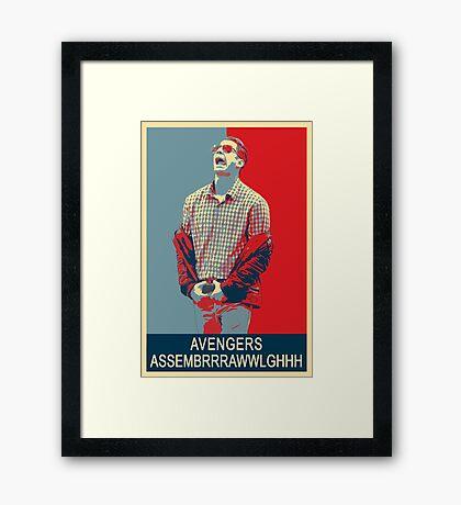 Avengers assembrrrrrawwwwwlghhh Framed Print
