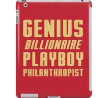 Genius Billionaire Playboy Philanthropist iPad Case/Skin