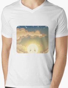 Cute Sky 9- Sunset Mens V-Neck T-Shirt