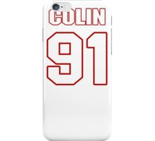 NFL Player Colin Cole ninetyone 91 iPhone Case/Skin