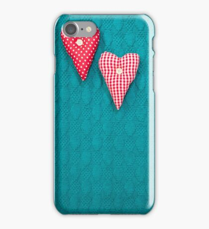 green textured knitted background iPhone Case/Skin