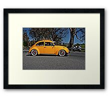 Yellow Volkswagen Beetle on Angas Creek Road Framed Print