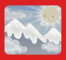 Cute Sky 30- Mountains Kids Tee