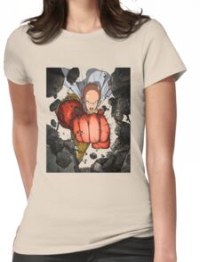 One Punch Man Super Punch Womens Fitted T-Shirt