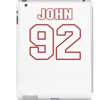 NFL Player John Denney ninetytwo 92 iPad Case/Skin