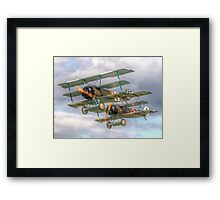 Two Little Fokkers - HDR - Dunsfold 2014 Framed Print