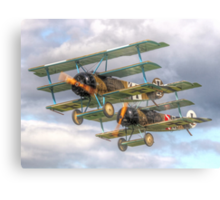 Two Little Fokkers - HDR - Dunsfold 2014 Canvas Print