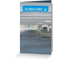 Flying Cars to the Right Greeting Card