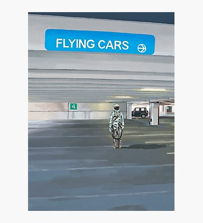 Flying Cars to the Right Photographic Print