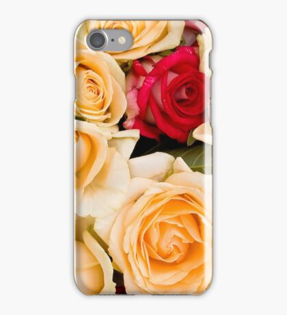 Colorful roses background iPhone Case/Skin