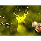 Happy Holidays Deer by jkartlife