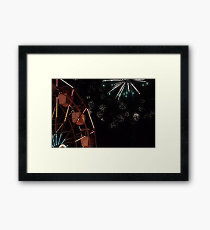 Festival light show  Framed Print