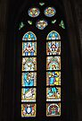 Stained Glass window,  Matthias Church, Budapest, Hungary by Margaret  Hyde