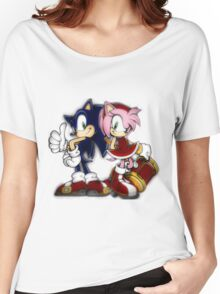 Sonic and Amy Women's Relaxed Fit T-Shirt
