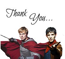 Merlin and Arthur Photographic Print