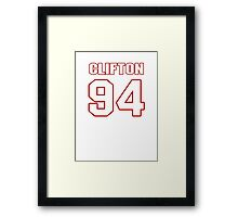 NFL Player Clifton Geathers ninetyfour 94 Framed Print