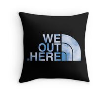 We Out Here (sky) Throw Pillow