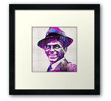 Frank Sinatra Art - Pink Sinatra - By Sharon Cummings Framed Print