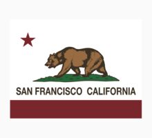 San Francisco California Republic Flag Kids Clothes