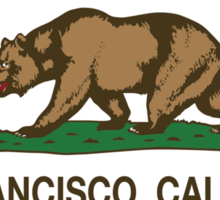 San Francisco California Republic Flag Sticker