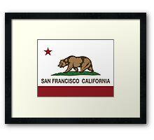 San Francisco California Republic Flag Framed Print