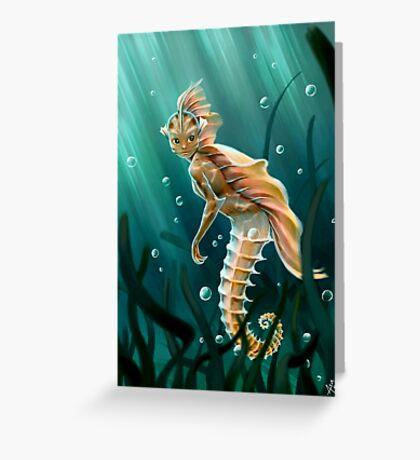 Creature underwater Greeting Card