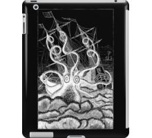 Attack of the Giant Octopus - White for Dark iPad Case/Skin