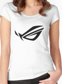 ROG Logo - Black Women's Fitted Scoop T-Shirt