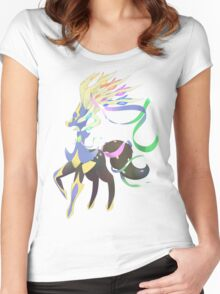 Mega Xerneas Women's Fitted Scoop T-Shirt
