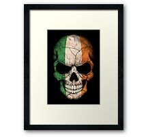 Irish Flag Skull Framed Print