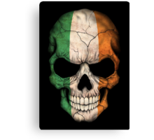 Irish Flag Skull Canvas Print