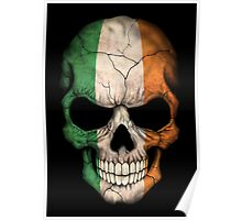 Irish Flag Skull Poster