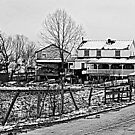Amish House in the Snow by TrendleEllwood