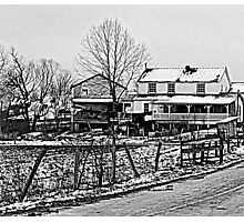 Amish House in the Snow Photographic Print
