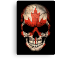 Canadian Flag Skull Canvas Print