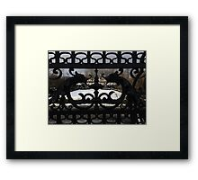 Conservatory Gardens Gates Framed Print