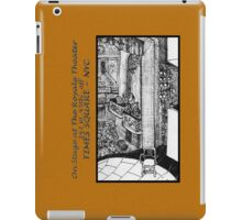 NYC - Back Stage at the Royale Theater, off Times Square iPad Case/Skin
