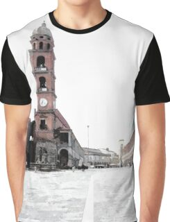 Square tower and cyclists Graphic T-Shirt