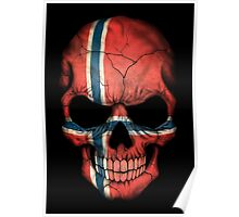 Norwegian Flag Skull Poster