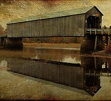 Starkey Covered Bridge by Vickie Emms