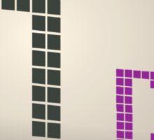 Glitch Music Blocks musicblock d blue 01 Sticker