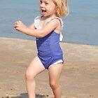 Running on the Beach by Kathleen Brant