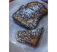 Who Decided French Toast With Sugar is Breakfast and Not Dessert? Photographic Print